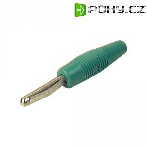 Banánkový konektor Ø pin: 4 mm SKS Hirschmann VON 20, zástrčka, rovná, zelená, 1 ks