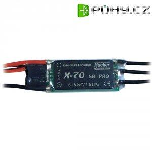 Regulátor otáček Brushless Hacker X-Pro SB, 8 - 18 NiCd/ 2 - 6 LiPo, 70 A, JR