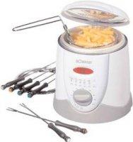 Fritovací hrnec/nádoba na přípravu fondue Bomann FFR 1290 840 W, manuálně nastavitelná teplota, bílá, šedá