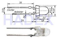 SP213F Fototranzistor infrapřijímač