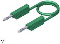 Měřicí silikonový kabel SKS Hirschmann, 1 mm², délka 0,5 m, zelená