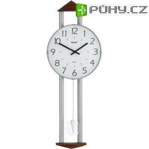 Quarz kyvadlové hodiny - pendlovky, 22,5 x 60 cm, kov, dřevo, bílá