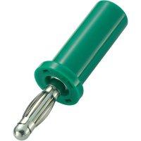 Lamelový konektor Ø 4 mm SCI, zástrčka rovná, zelená