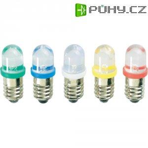 LED žárovka E10 Barthelme, 59101211, 12 V, červená