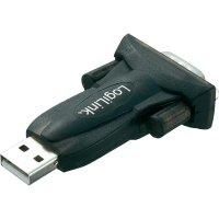 Adaptér AU0002E LogiLink USB 2.0 USB/sériový, 9-pinový, černý