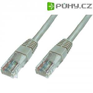 Patch kabel CAT 6 U/UTP RJ 45, vidlice ⇔ vidlice, 15 m, šedý