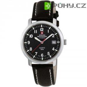 Ručičkové náramkové hodinky Swiss Military, 20019ST-11L, pánské, kožený pásek, hnědá