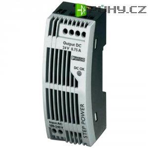Zdroj na DIN lištu Phoenix Contact STEP-PS/1AC/24DC/0.75/FL, 24 V/DC, 0,75 A