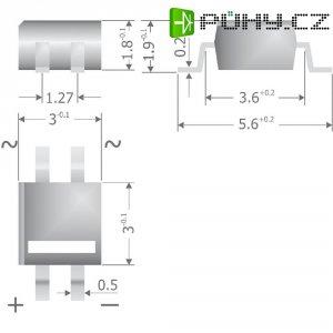 Křemíkový můstkový usměrňovač Diotec MYS250, U(RRM) 600 V, 500 mA, MicroDIL