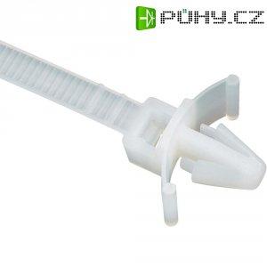 Stahovací pásek s příchytkou KSS PSV130, 132 x 4,8 mm, přírodní