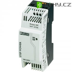 Zdroj na DIN lištu Phoenix Contact STEP-PS/1AC/24DC/0.75, 24 V/DC, 0,75 A