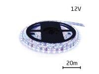 LED pásek 12V 2835 60LED/m IP20 max. 6W/m bílá studená (cívka 20m)