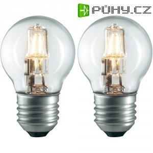 Halogenová žárovka Sygonix, E27, 42 W, 75 mm, stmívatelná, teplá bílá, 2 ks
