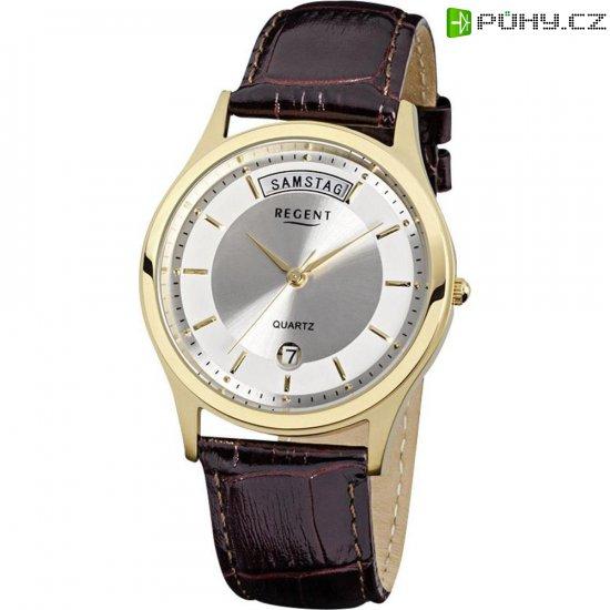 3cbd822a2 Ručičkové náramkové hodinky Regent F-355 Quartz, pánské, kožený pásek