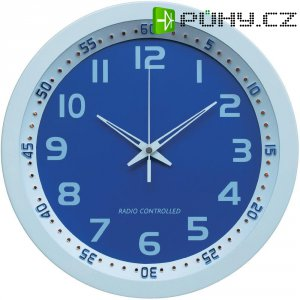 Analogové DCF nástěnné hodiny Techno Line Metall 3D WT 8971, Ø 30 x 5 cm, bílá