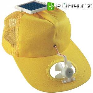 Solární čepice s ventilátorkem, žlutá