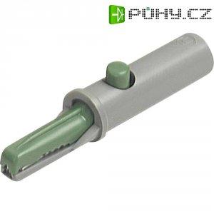 Krokosvorka SKS Hirschmann AK 10, 60 V, 6 A, 4 mm, zelená