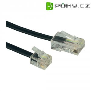 ISDN kabel 922653, [1x RJ45 zástrčka 8p4c - 1x RJ11 zástrčka 6p4c], 6 m, černá