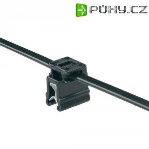 Stahovací pásek se soklem EdgeClip HellermannTyton T50ROSEC4A-MC5-BK-D1, 200 x 4,6 mm