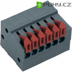 Pružinová svorkovnice 10nás. Push-In AKZ4791/10KD-2.54-H (54791100422D), 2,54 mm, šedá