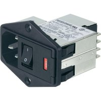 Síťový filtr TE Connectivity, PE0SXDS6B=C1228, 250 V/AC, 6 A