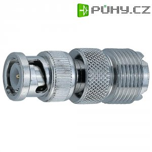 UHF zásuvka / BNC zástrčka, adaptér rovný, 50 Ω