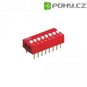 DIP spínač, standardní, DS-10-V, 10pólový, rastr: 2,54 mm