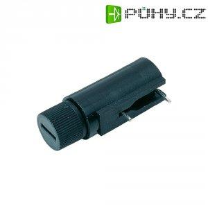 Držák pojistky rozměru 5 x 20 mm, 250 V/AC, 6,3 A, stojatý