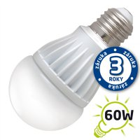 Žárovka LED A60 E27 10W bílá teplá (Al)
