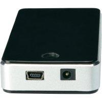 USB 2.0 hub Digitus DA-70222, 7 portů, 85 mm, černá/stříbrná