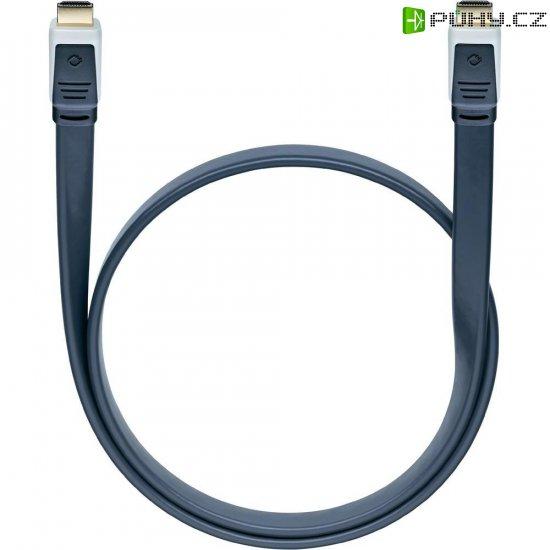 Oehlbach High Speed HDMI plochý kabel s Ethernetem, Flat Magic, 0,75 m - Kliknutím na obrázek zavřete