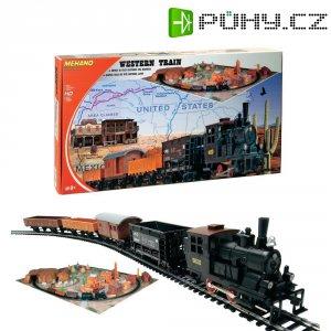 Startovací sada H0 Mehano T109, nákladní vlak Western, ovál 1175 x 955 mm a krajina