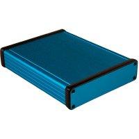 Univerzální pouzdro hliníkové Hammond Electronics, (d x š x v) 160 x 125 x 30,5 mm, modrá