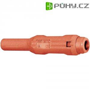 Laboratorní konektor Ø 2 mm MultiContact 65.3319-22, zásuvka rovná, červená