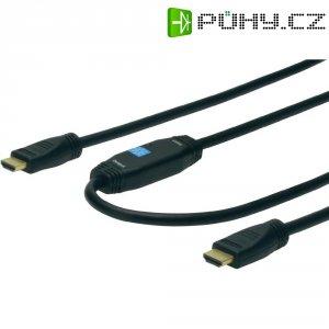 Kabel HDMI se zesilovačem, 15 m, Digitus
