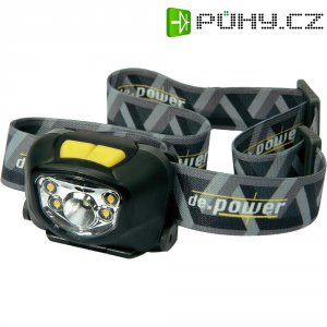 LED čelovka DP-801 De.power, DP-801AA, černá/šedá