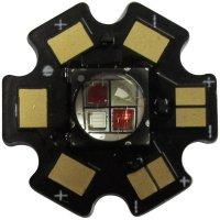 HighPower LED, Star-AM595-10-00-00, 1000 mA, 10 V, jantarová