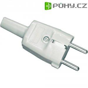 Chráněná zástrčka, PVC, 230 V, šedá