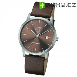 Ručičkové náramkové hodinky Hybrid Quartz, pánské, kožený pásek
