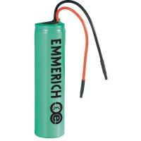 Speciální akumulátor Emmerich LI14500, 14500, s kabelem, Li-Ion akumulátor, 3.7 V, 800 mAh