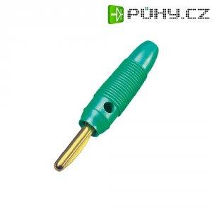 Banánkový konektor 4 mm, BKL Electronic 072152/G, pozlacený, zelená