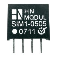 DC/DC měnič HN Power SIM1-2415-SIL4, vstup 24 V, výstup 15 V, 66 mA, 1 W