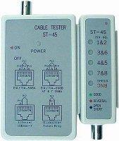 Tester kabelů UTP,STP a koax.ST-45