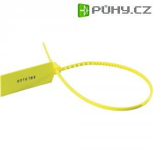 Bezpečnostní stahovací pásek-plomba se štítkem, žlutý, S30L-N66-YE-T1