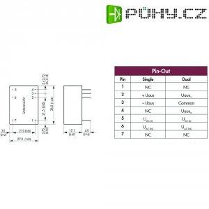 Síťový zdroj do DPS TracoPower TMLM 04115, 4 W, 15 V