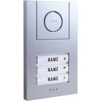 Domácí telefon m-e, Vistus AD 4030, 3 rodiny, bílá/stříbrná