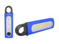 Svítilna LED COB + 3xLED+1xLED, napájení 4xAAA, TIROSS