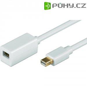 DisplayPort kabel Mini-DisplayPort, zástrčka/zásuvka, bílý, 2 m