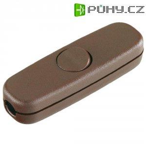 Šňůrový vypínač interBär , 1pólový, 250 V/AC, 3 A, hnědá