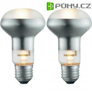 Halogenová žárovka Sygonix, E27, 42 W, 105 mm, stmívatelná, teplá bílá, 2 ks